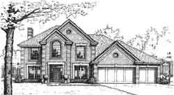 European Style House Plans Plan: 8-1001