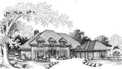 European Style House Plans Plan: 8-1010