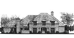 European Style House Plans Plan: 8-1013