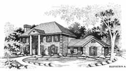 Greek-Revival Style House Plans Plan: 8-1029