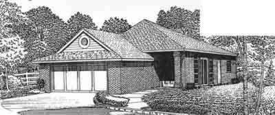 Traditional Style Home Design Plan: 8-103