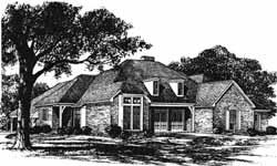 Traditional Style Home Design Plan: 8-1035