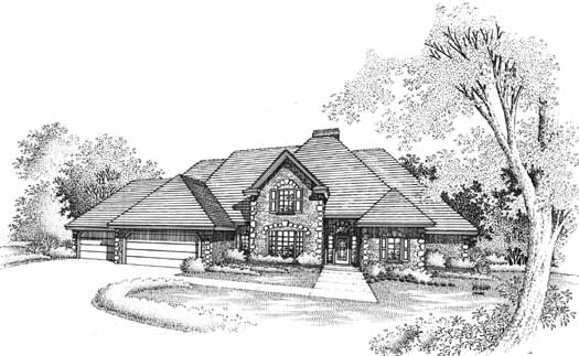 Traditional Style Home Design Plan: 8-1037