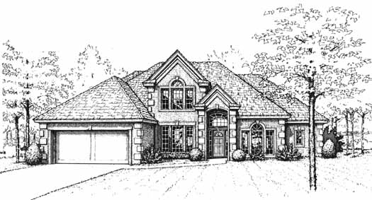 Traditional Style Home Design Plan: 8-1038