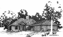 Traditional Style Home Design Plan: 8-1040