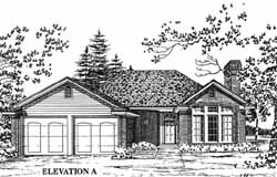 Traditional Style House Plans Plan: 8-1041