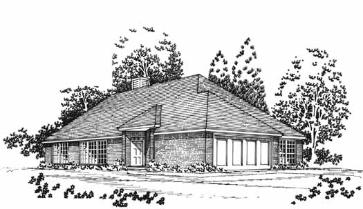 Traditional Style House Plans Plan: 8-1043