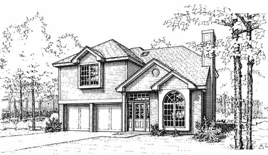 Traditional Style Home Design Plan: 8-1044