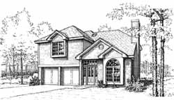 Traditional Style House Plans Plan: 8-1044