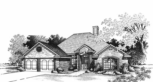 Traditional Style House Plans Plan: 8-1048
