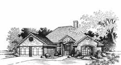 Traditional Style Home Design Plan: 8-1048