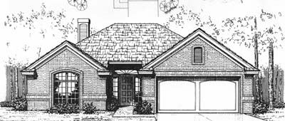 Traditional Style Home Design Plan: 8-105