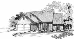 Traditional Style Home Design Plan: 8-1051
