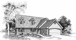 Traditional Style Home Design Plan: 8-1053