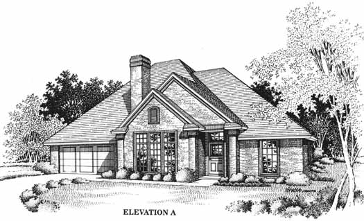 Traditional Style Floor Plans Plan: 8-1055