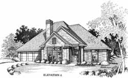 Traditional Style Home Design Plan: 8-1055
