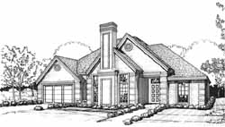 Traditional Style House Plans Plan: 8-1056
