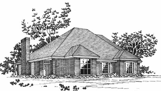 Traditional Style Home Design Plan: 8-1057