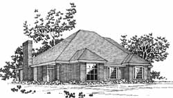Traditional Style House Plans Plan: 8-1057