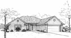 Traditional Style Home Design Plan: 8-1058