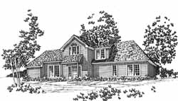 Traditional Style House Plans Plan: 8-1059