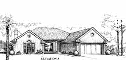Traditional Style Home Design Plan: 8-1060