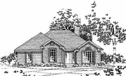 Traditional Style Home Design Plan: 8-1061