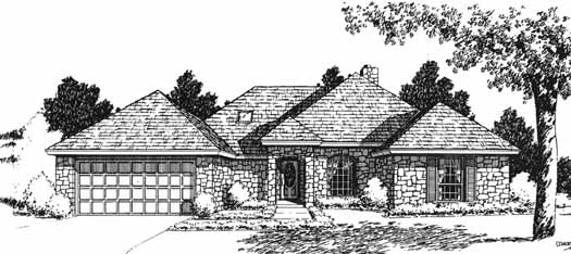 Traditional Style Floor Plans Plan: 8-1063