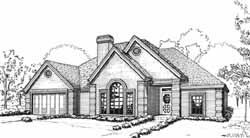 Traditional Style Home Design Plan: 8-1064