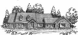 Country Style Floor Plans Plan: 8-1068