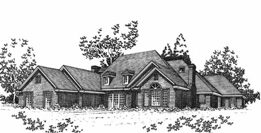 Traditional Style House Plans Plan: 8-1069