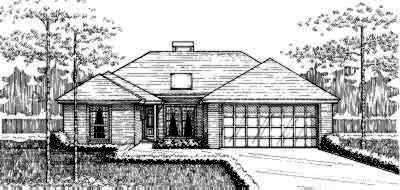 Traditional Style Home Design Plan: 8-107