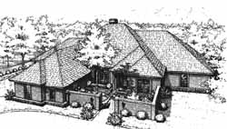 Traditional Style Home Design Plan: 8-1070