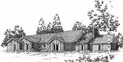 Contemporary Style Floor Plans Plan: 8-1083