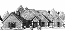 European Style Home Design Plan: 8-1088