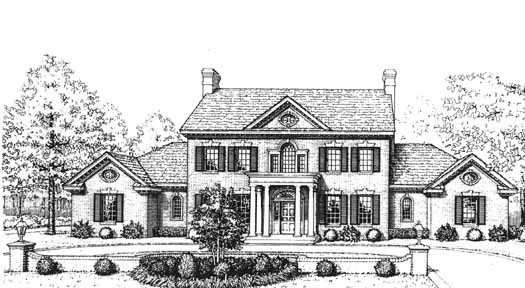 Colonial House Plan - 4 Bedrooms, 3 Bath, 3335 Sq Ft Plan ...