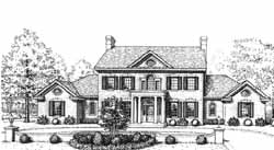 New-England-Colonial Style Home Design Plan: 8-1103