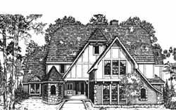 English-Country Style House Plans Plan: 8-1107