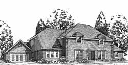 European Style House Plans Plan: 8-1110
