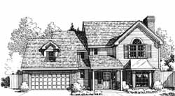 Country Style Home Design Plan: 8-1124