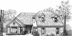 English-Country Style House Plans Plan: 8-1143