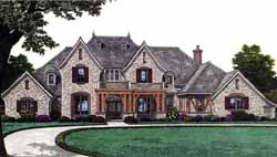 European Style Floor Plans Plan: 8-1181