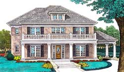 Southern Style Floor Plans Plan: 8-1183