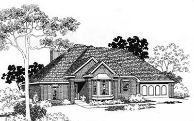 Traditional Style Home Design Plan: 8-119