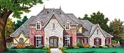 European Style House Plans Plan: 8-1198
