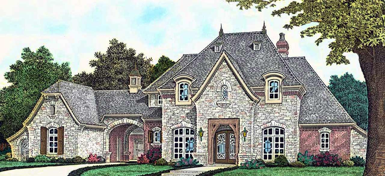 French-country Style House Plans Plan: 8-1206