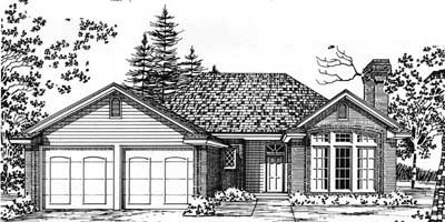 Traditional Style Home Design Plan: 8-121