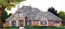 European Style House Plans Plan: 8-1215