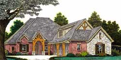 English-Country Style Floor Plans Plan: 8-1217