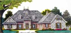 French-Country Style Floor Plans Plan: 8-1219